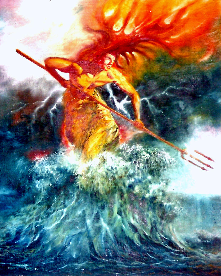 Gorecki Painting - Poseidon by Henryk Gorecki