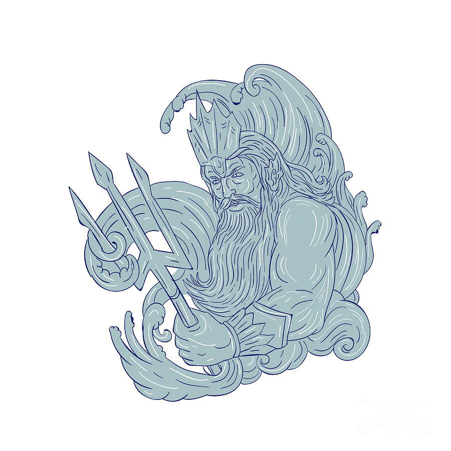 It's just a graphic of Nifty Drawing Of Poseidon