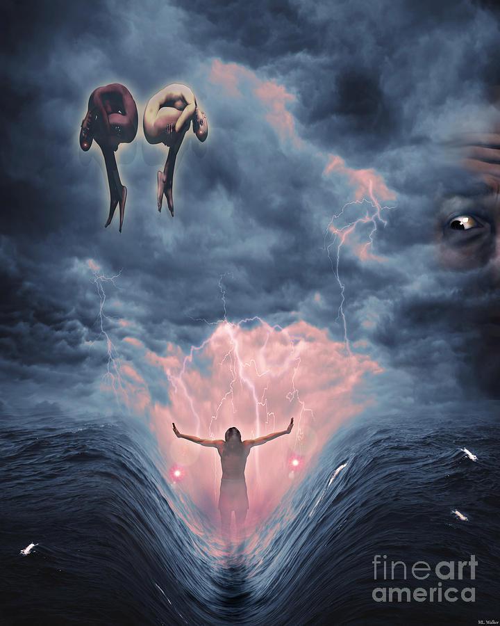 Poseidons Mythica Mixed Media by ML Walker
