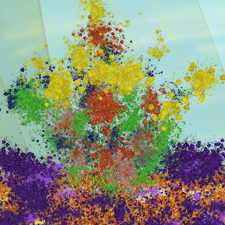 Flowers Digital Art - Posies by Victor Shelley