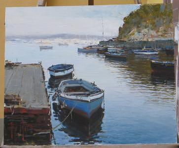 Seascape Painting - Positano by Andrea Patrisi