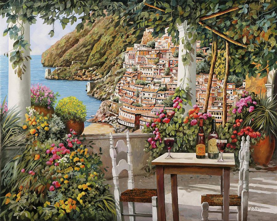 Positano Dalla Terrazza Painting by Guido Borelli