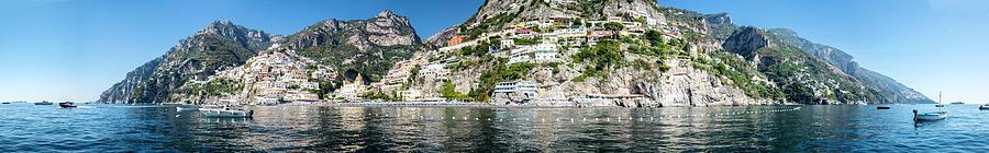 Positano from the Sea - Panorama II by Matt Swinden
