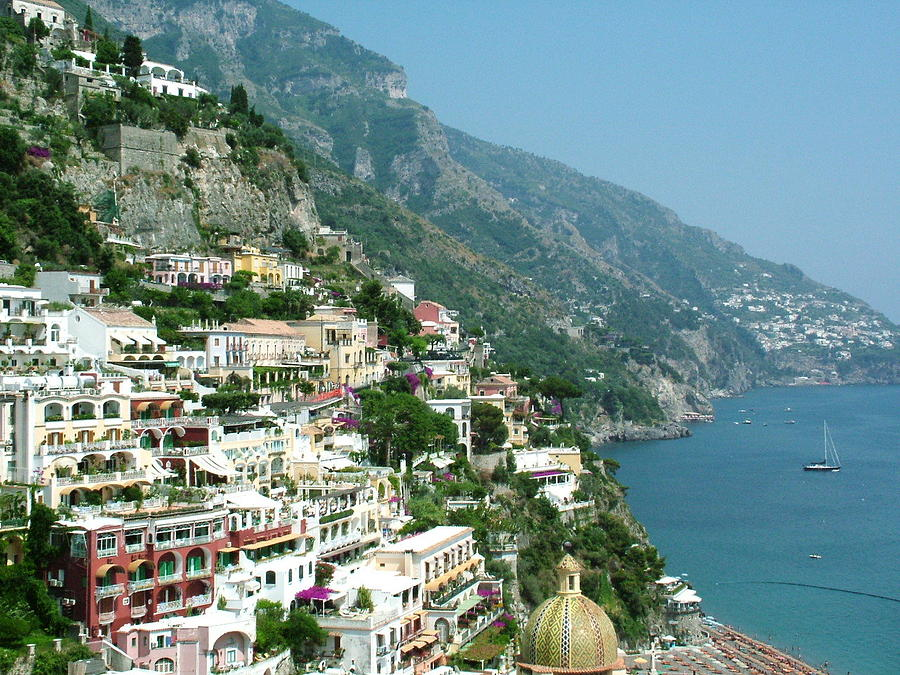 Positano Photograph - Positano In The Afternoon by Donna Corless