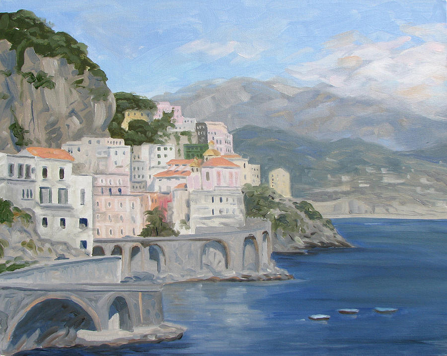Landscape Painting - Positano Port by Jay Johnson