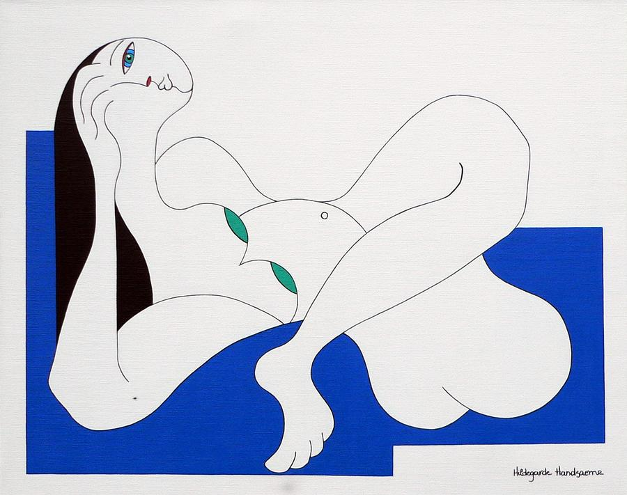 Position Women  Painting by Hildegarde Handsaeme