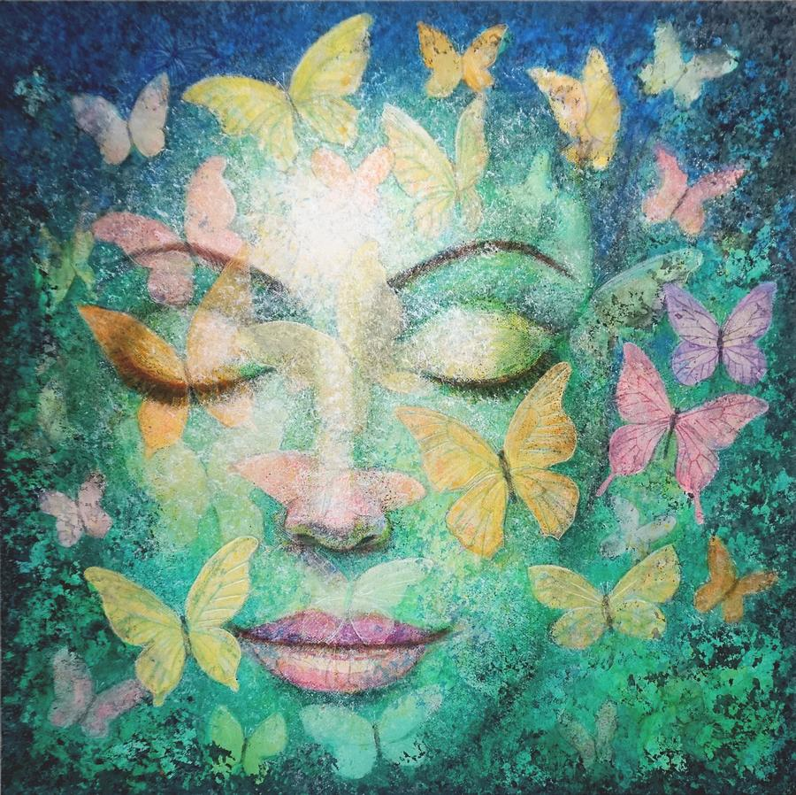 Possibilities Meditation Painting by Sue Halstenberg