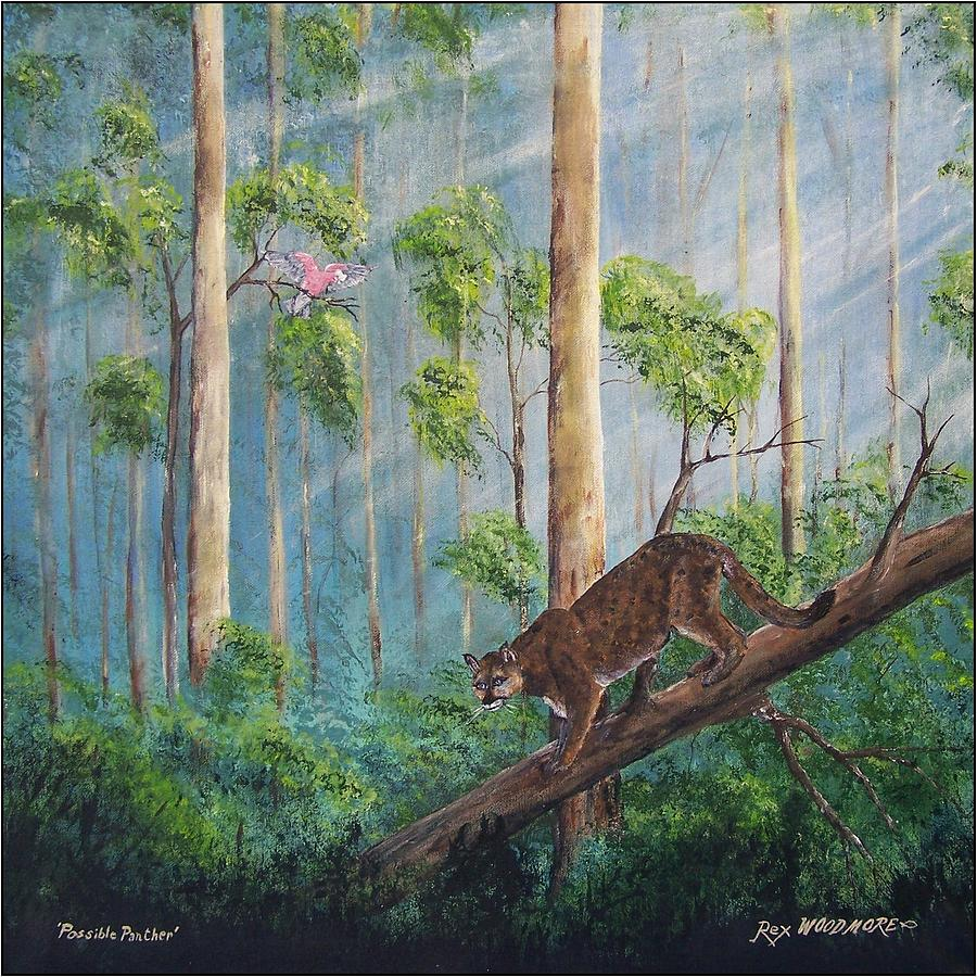 Myth Painting - Possible Panther by Rex Woodmore
