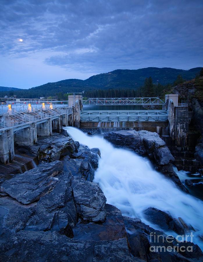 Dam Photograph - Post Falls Dam by Idaho Scenic Images Linda Lantzy