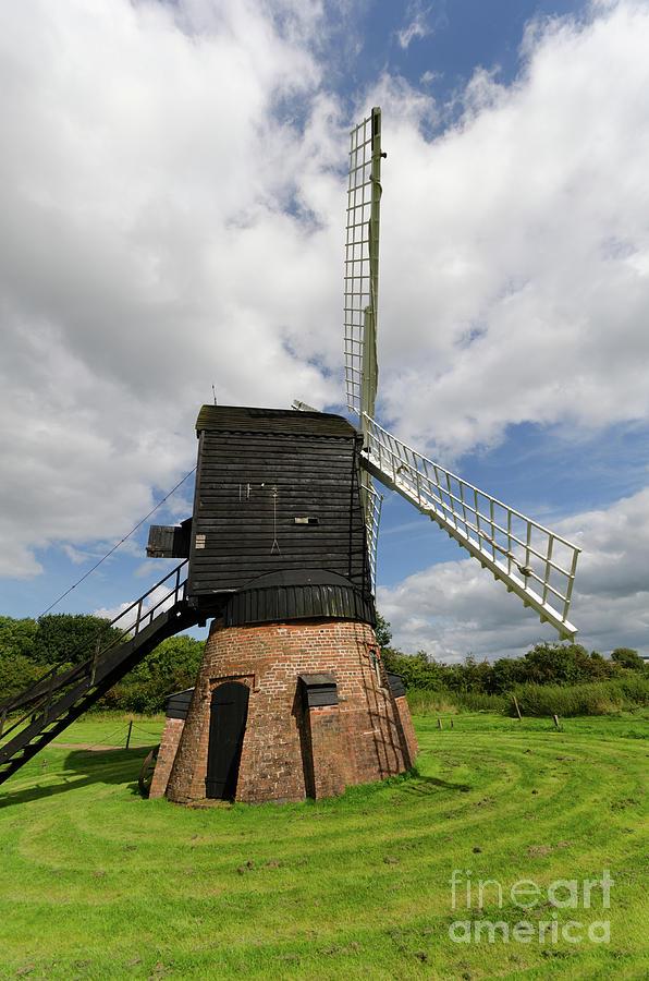 Windmill Photograph - Post Mill Windmill by Steev Stamford
