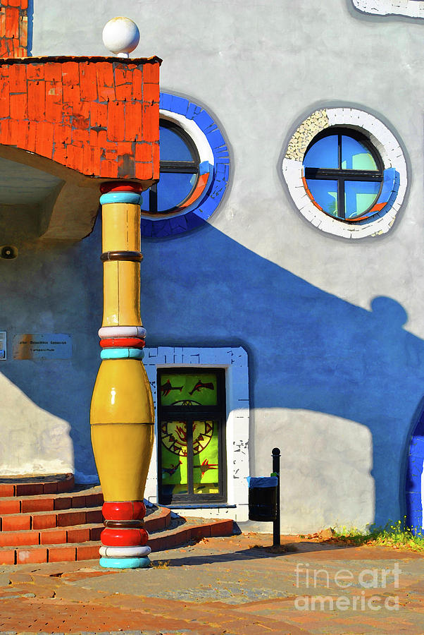 Window Photograph - Post Of Hundertwasser by Jost Houk
