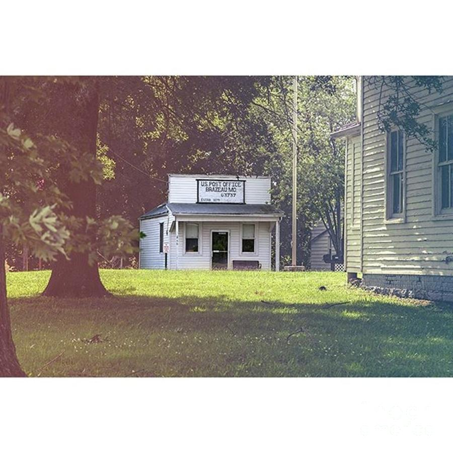 Vintage Photograph - Post Office  Brazeau by Larry Braun