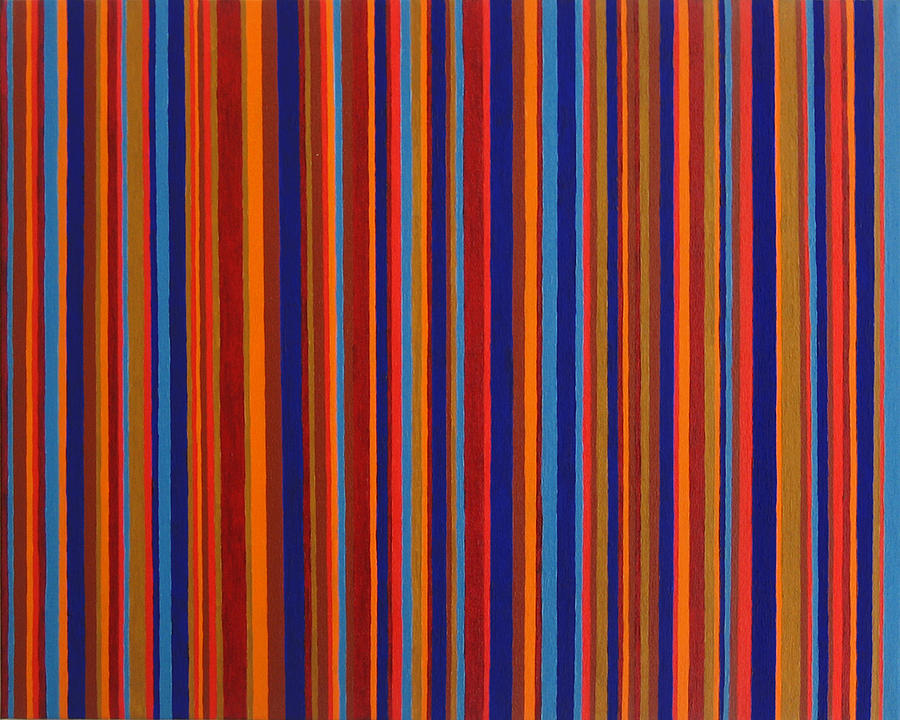 Stripes Painting - Post Pictura by Oliver Johnston