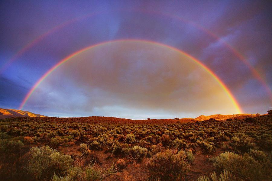 Rainbow Photograph - Post Tstorm Rainbow by SB Sullivan