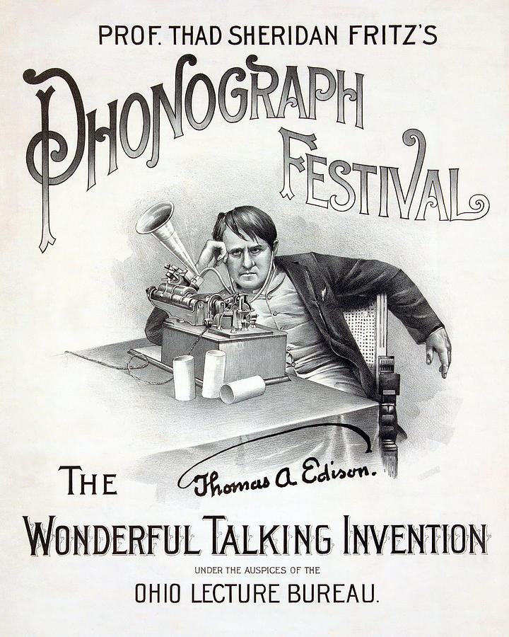 1890s Photograph - Poster For A Music Festival, Text Reads by Everett