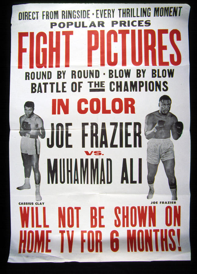 Ali Photograph - Poster For The First Joe Frazier Vs by Everett