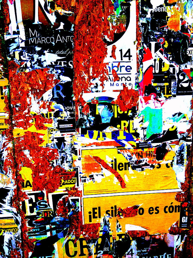 Architecture Photograph - Poster Wall In Santiago  by Funkpix Photo Hunter
