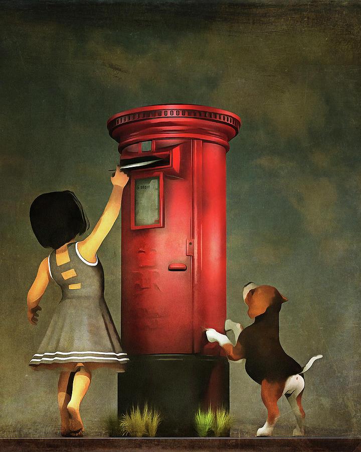 Posting a letter together by Jan Keteleer