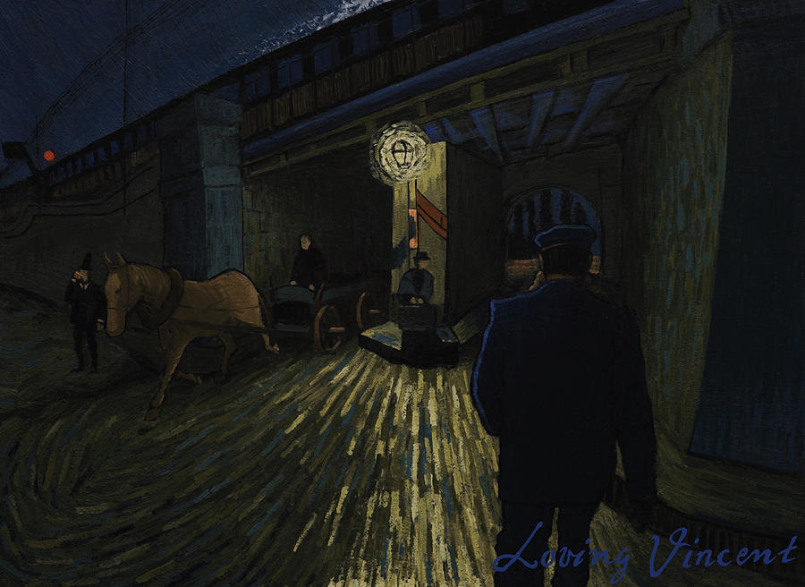 Postman Walks Over The Bridge Painting by Lukasz Gordon