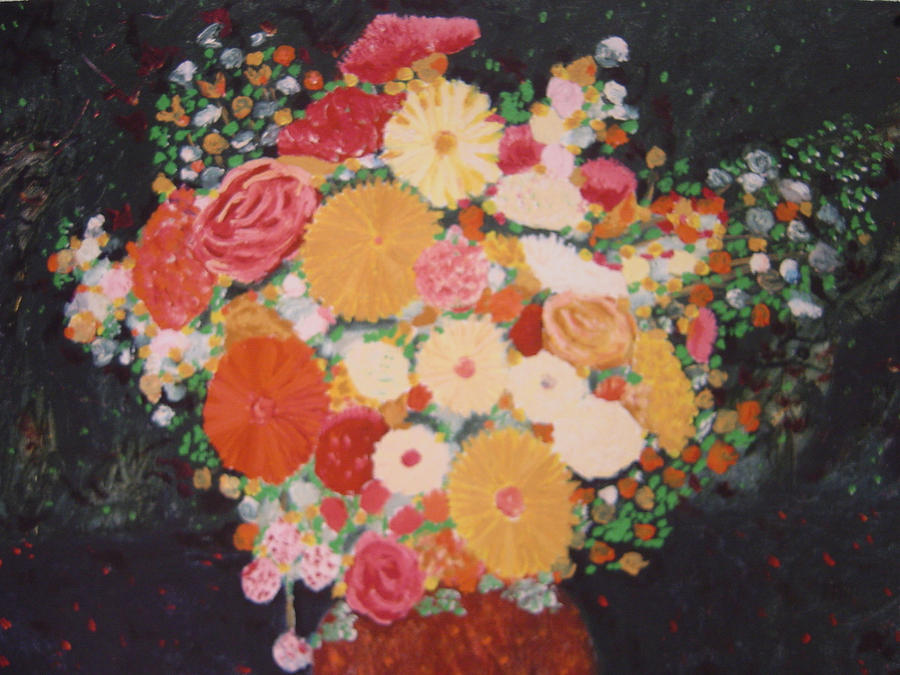 Pot With Flowers Painting by Biagio Civale