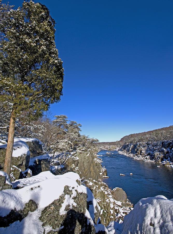 Potomac Photograph - Potomac River At Great Falls National Park During Winter by Brendan Reals