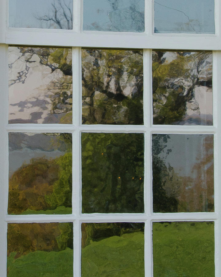 Window Photograph - Potomac River Valley On Mount Vernon by Larry Umenhofer