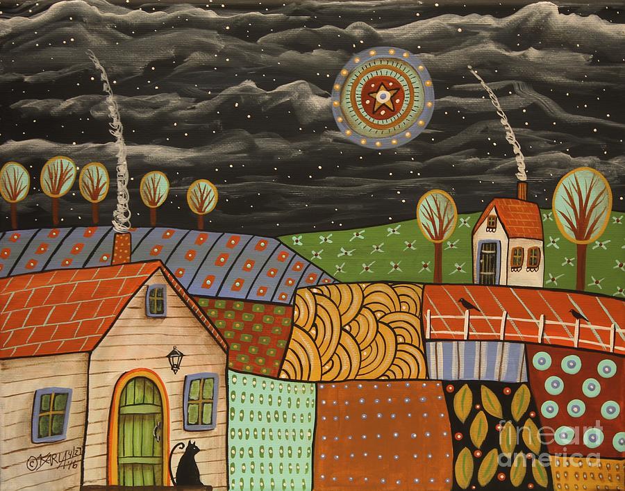 Landscape Painting - Potpourri Landscape by Karla Gerard