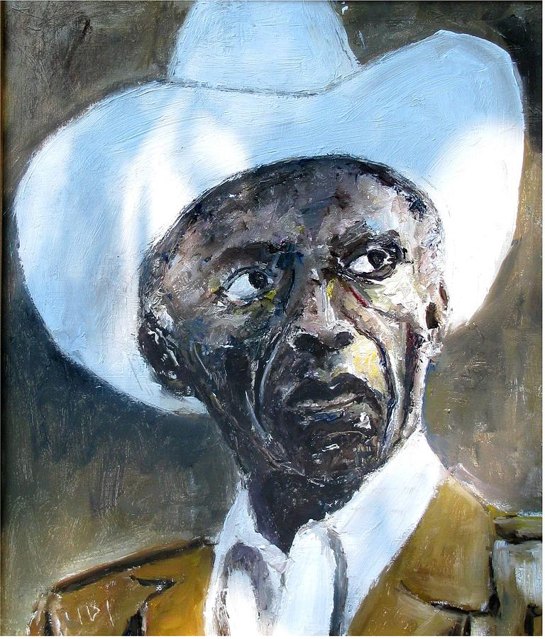 Potrait Of Drummer Art Blakey Painting by Udi Peled