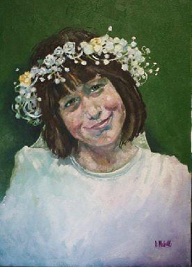 Portrait Painting - Potrait Of Erin by Kevin McKrell