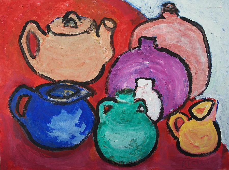 Pottery Painting - Pots by Jay Manne-Crusoe