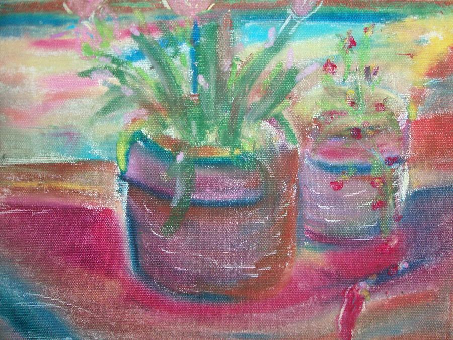 Potted Plants Painting By Bob Smith
