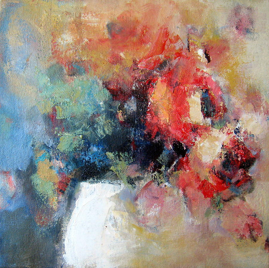 Rose Painting - Potted Roses 1 by Sharleen Boaden