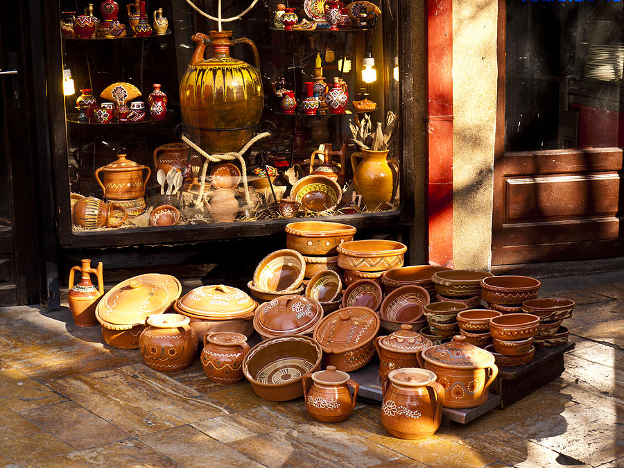 Skopje Photograph - Pottery In The Bazaar by Rae Tucker