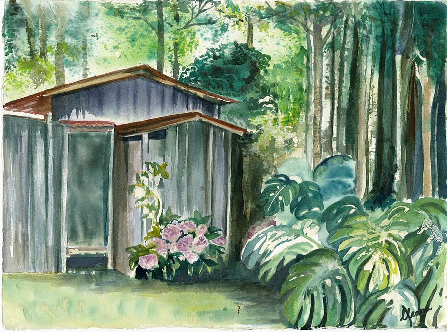 Potting Shed Painting by Ileana Carreno