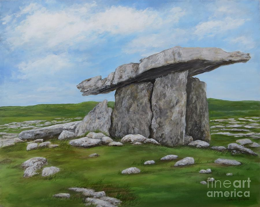 Poulnabrone Dolmen Painting - Poulnabrone Dolmen by Janice Guinan