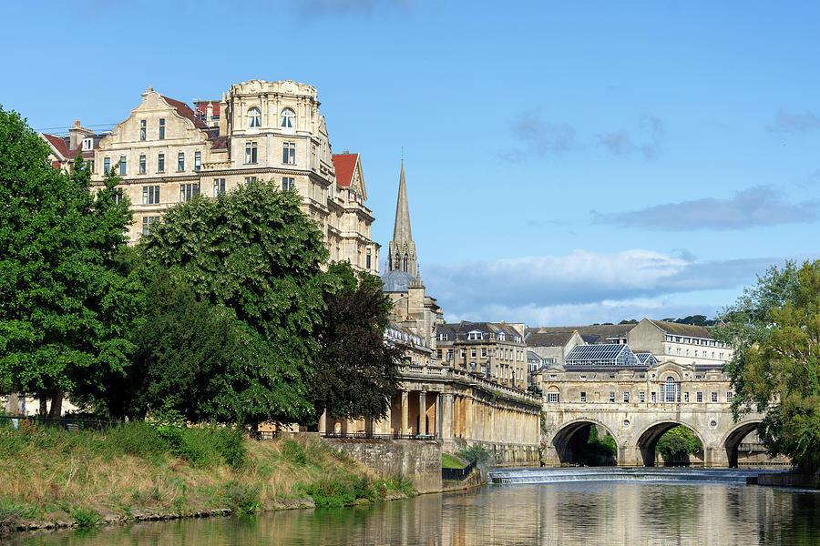 Bath Photograph - Poulteney Bridge Bath 1 by Steev Stamford