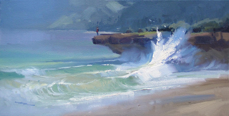 Haleiwa Painting - Pounders by Richard Robinson