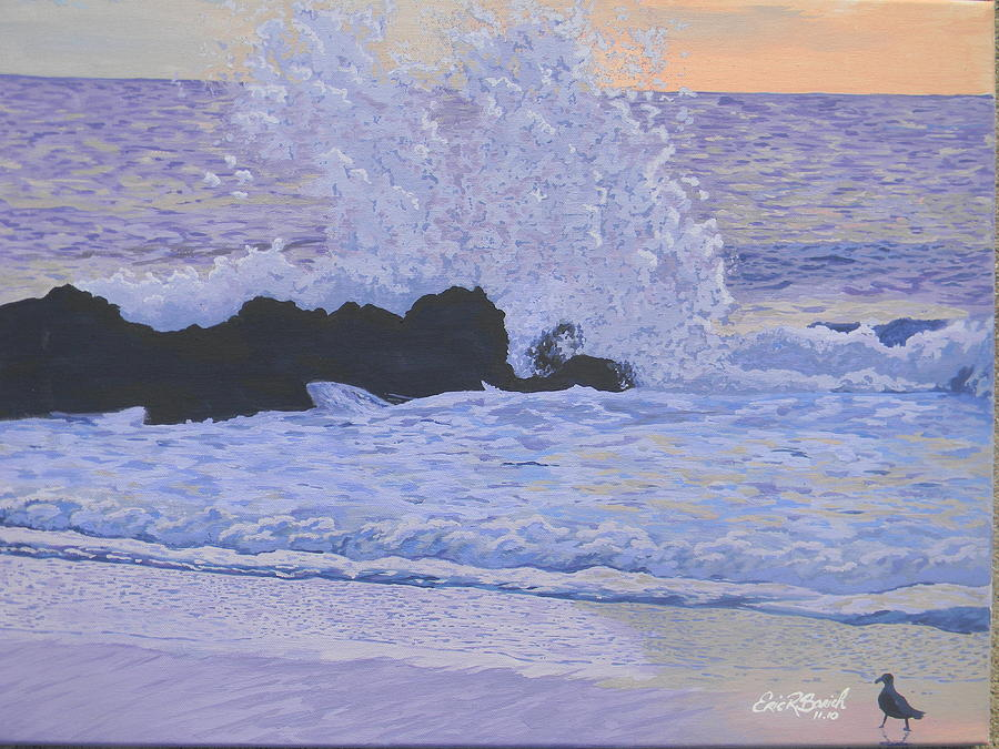 Crashing Waves Painting - Pounding Surf by Eric Barich