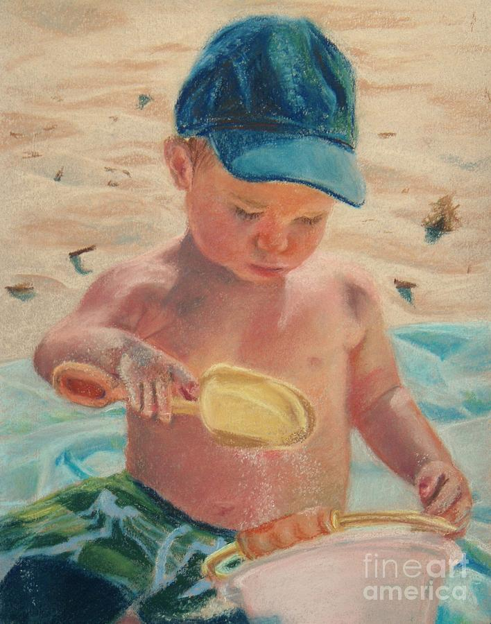 Portrait Pastel - Pouring Sand by Lisa Pope