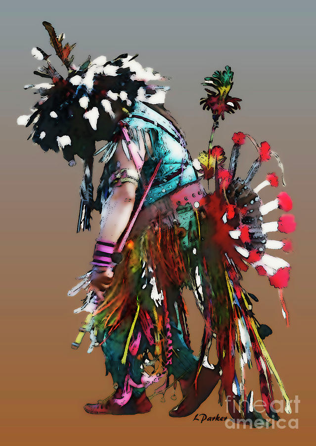 Abstract Photograph - Pow Wow Dancer by Linda  Parker