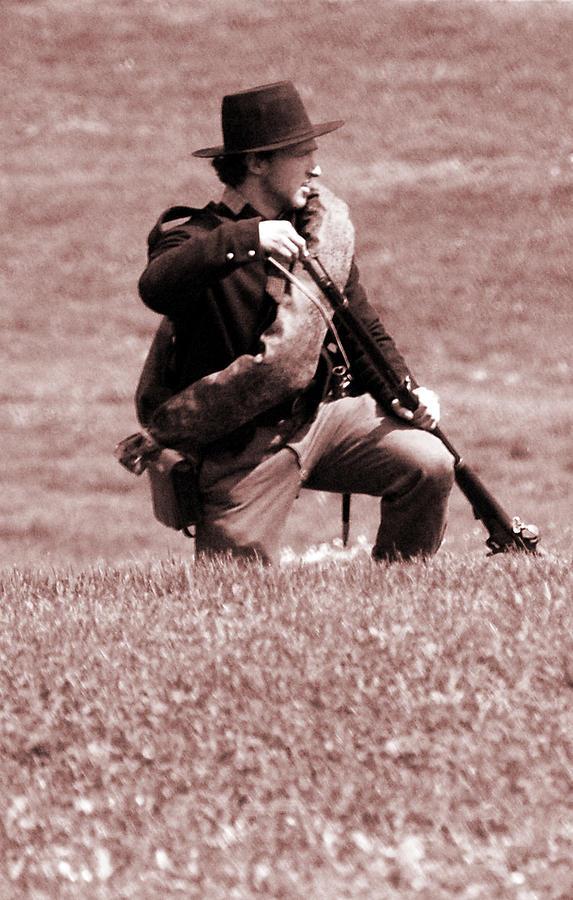 Civil War Photograph - Powder Cartridge by Jame Hayes