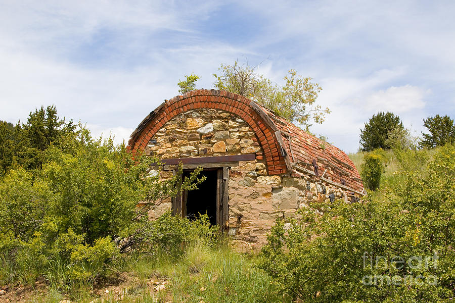 Powder House For Gold Mines Near Goldfield Colorado Photograph