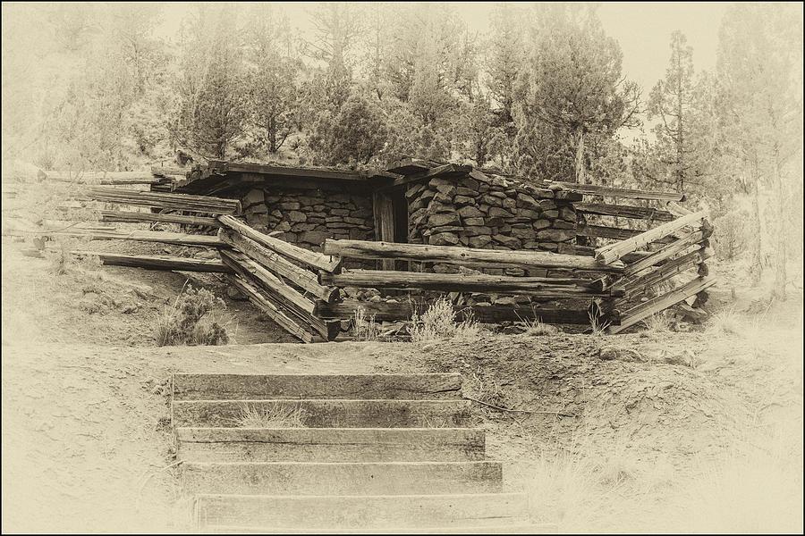Old Photograph - Powder House by Joe Hudspeth