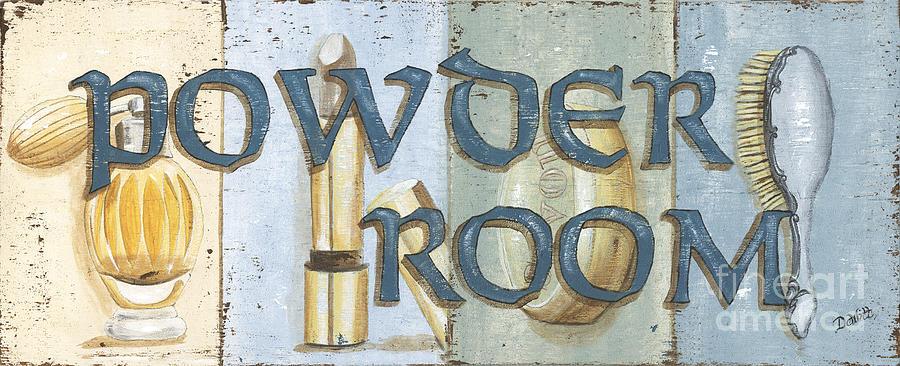 Powder Room Painting - Powder Room by Debbie DeWitt