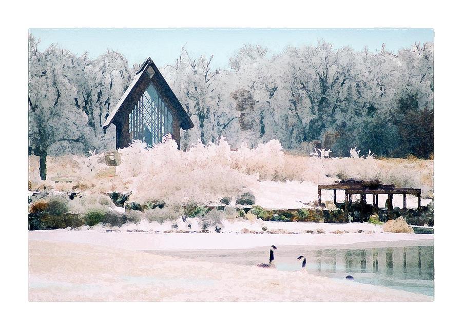 Landscape Photograph - Powell Gardens Chapel by Steve Karol