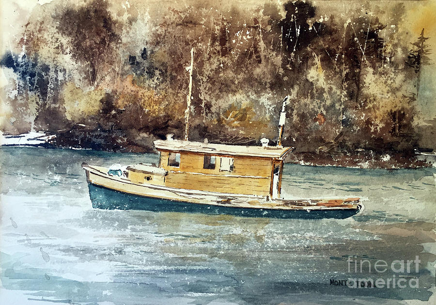 Powell River Canada Painting by Monte Toon