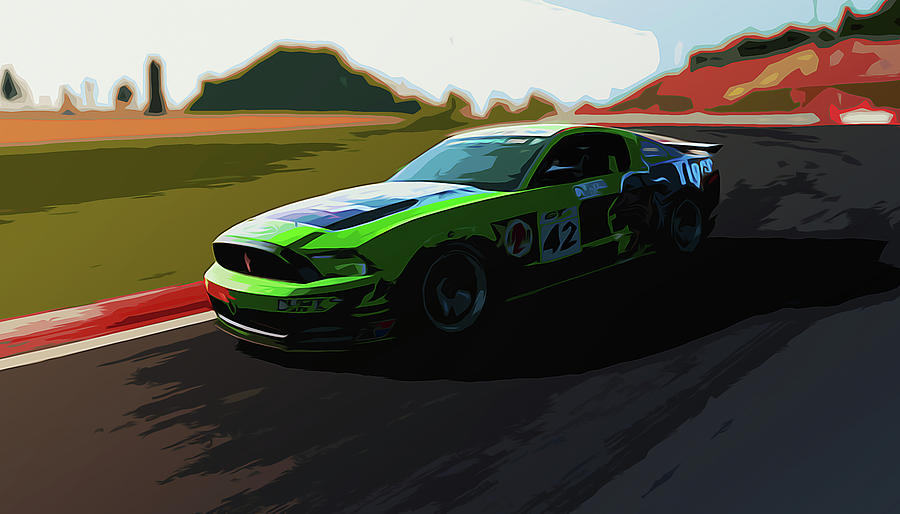 Ford Mustang Painting - Power And Motors by Andrea Mazzocchetti