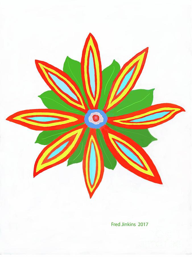 Power Flower Digital Art - Power Flower by Fred Jinkins