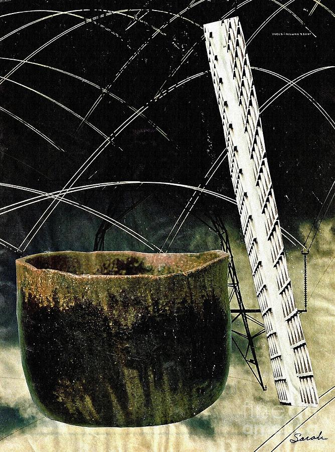 Abstract Mixed Media - Power Lines by Sarah Loft