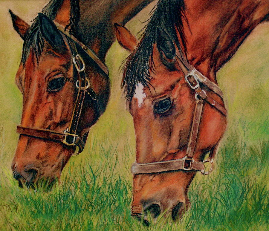 Equine Pastel - Power Lunch by Crystal  Harris-Donnelly
